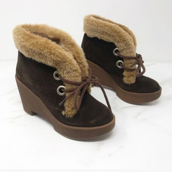 Robert Clergerie Shoes | Fur Trim Lace